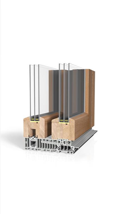 Hebeschiebetüre Holz H90