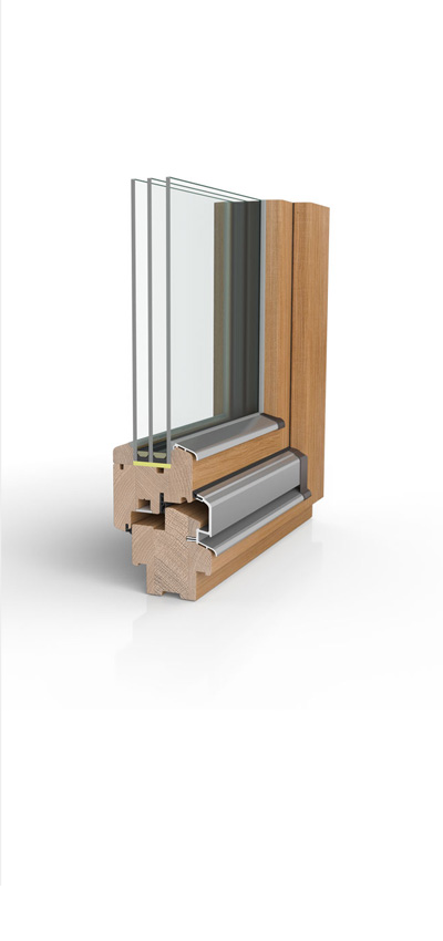 Holzfenster H80 mit 3fach-Wärmeschutzverglasung