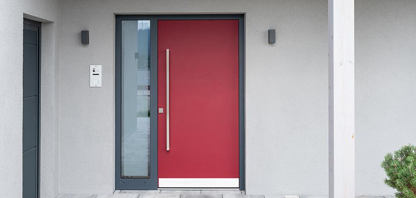 Aluminiumhaustür Aluminium Haustür rot modern