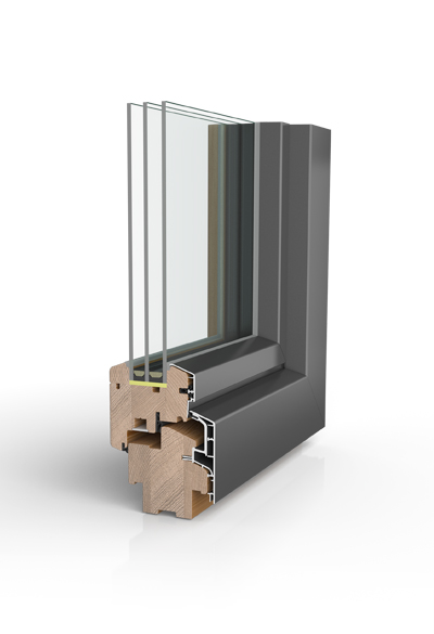 Holz/Aluminiumfenster HA87 SAFE
