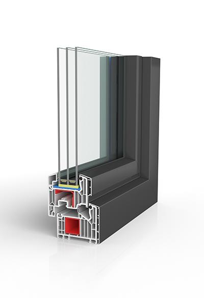 Kunststoff/Aluminium-Fenster BW87C