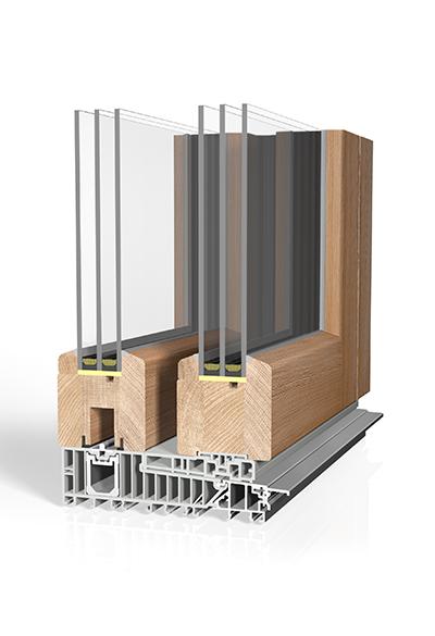 Hebeschiebetür Holz HST H80