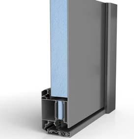 Aluminiumhaustür Einseitig