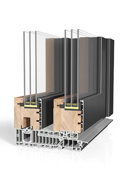 Hebeschiebetür Holz/Aluminium HST HA87